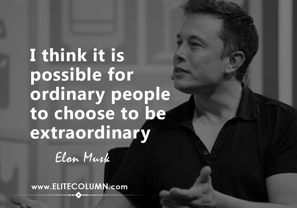 Thirteen Brilliant Elon Musk Quotes On Business World