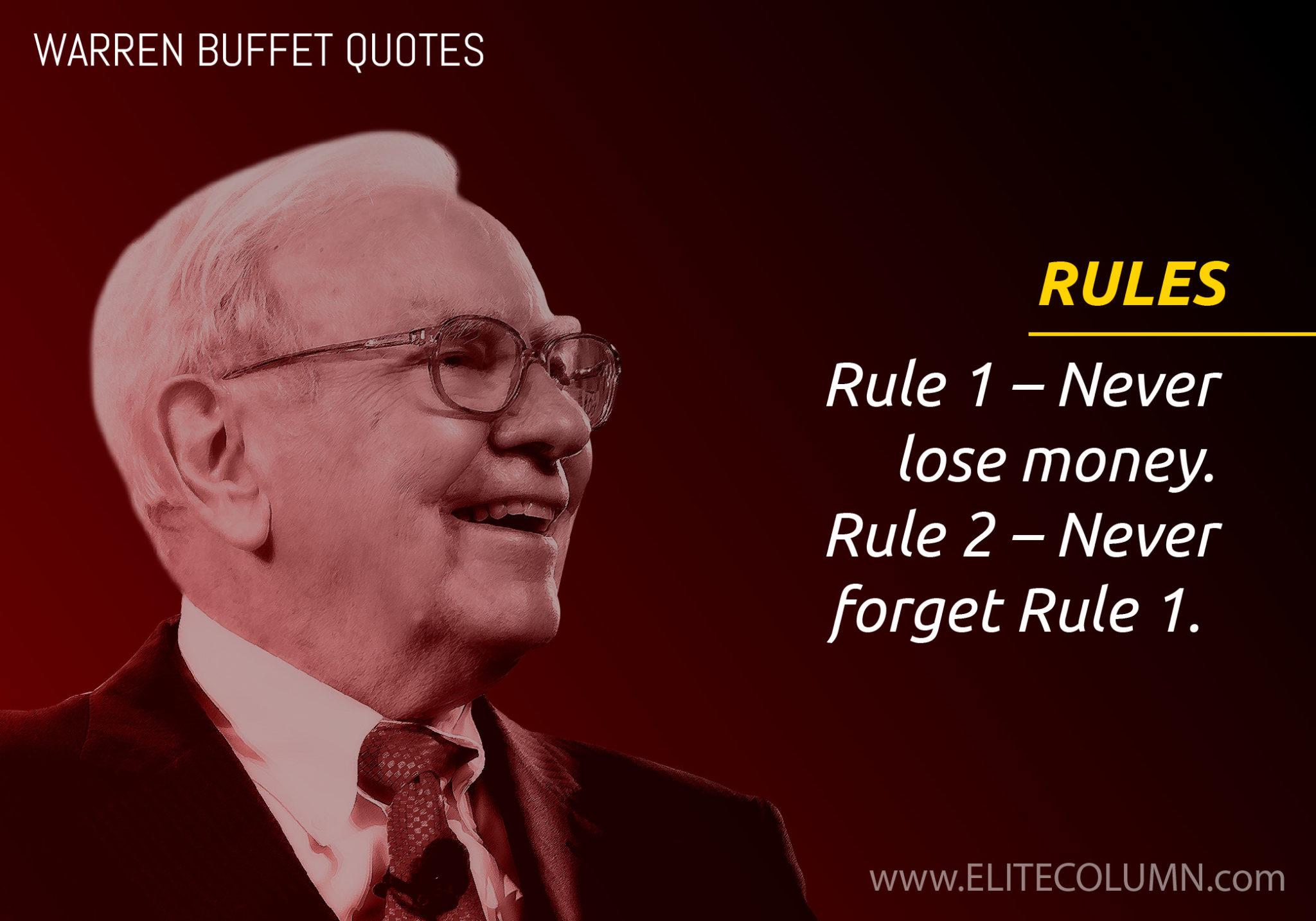 Warren Buffett On Rules Elitecolumn