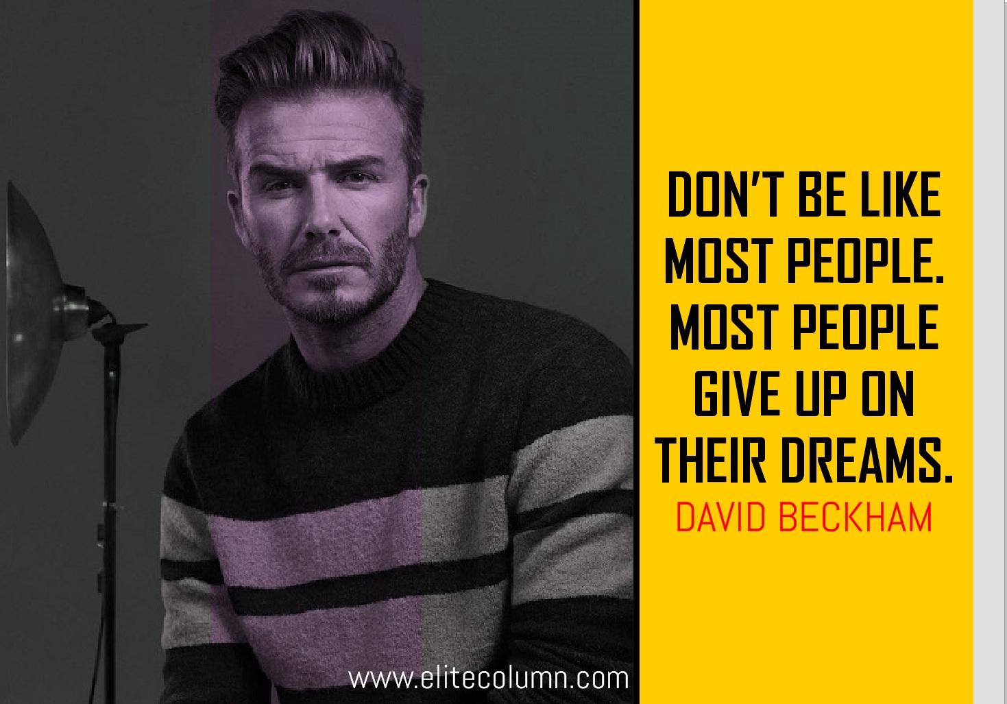 David Beckham Quotes 7 | EliteColumn