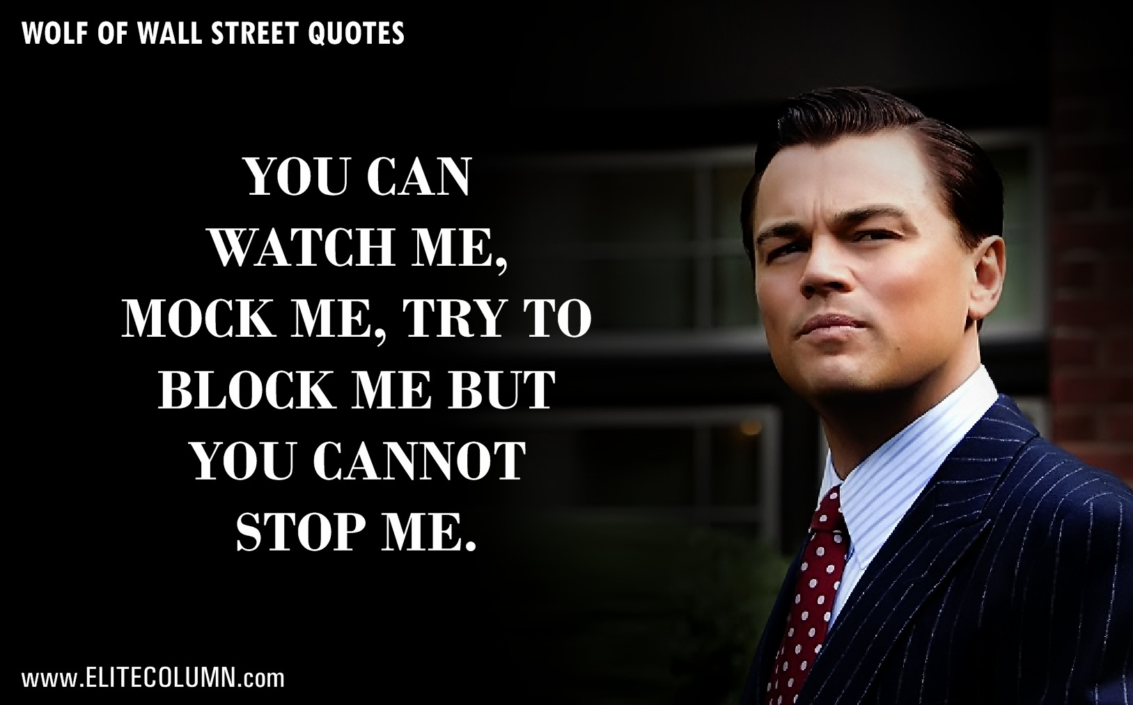 "Wall Street Quotes Prepossessing 12 Epic Leonardo Dicaprio Quotes From ""the Wolf Of Wall Street"