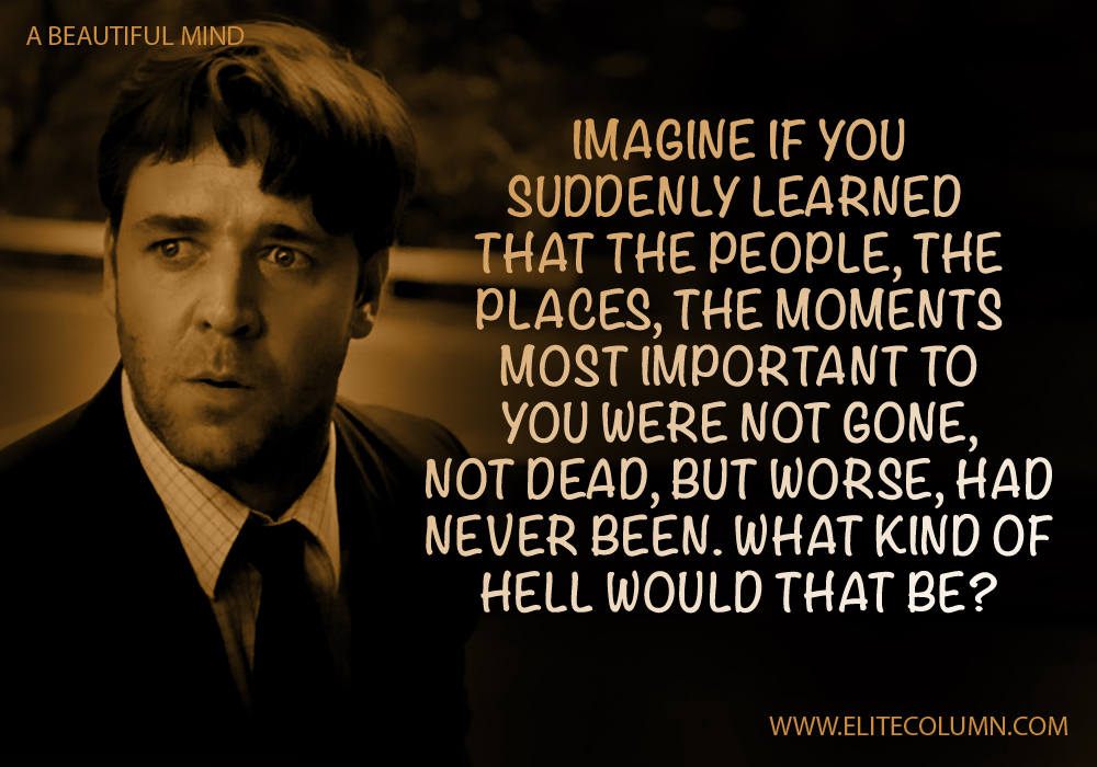 a beautiful mind dialogue