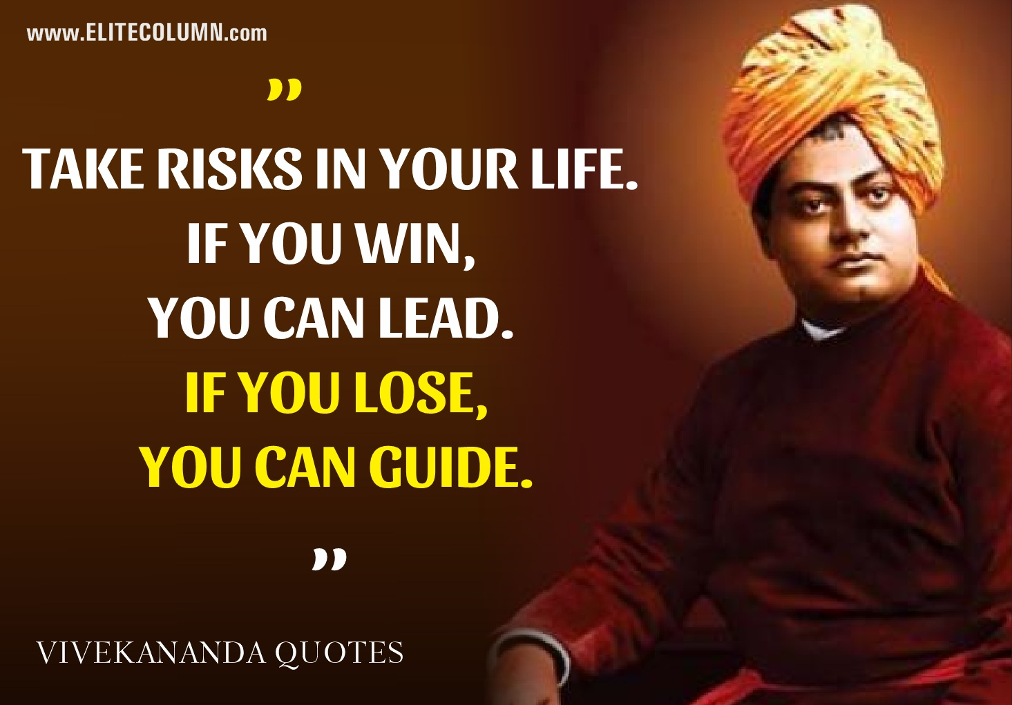 Quotes Vivekananda Captivating 10 Swami Vivekananda Quotes Which Are Still Relevant  Elitecolumn
