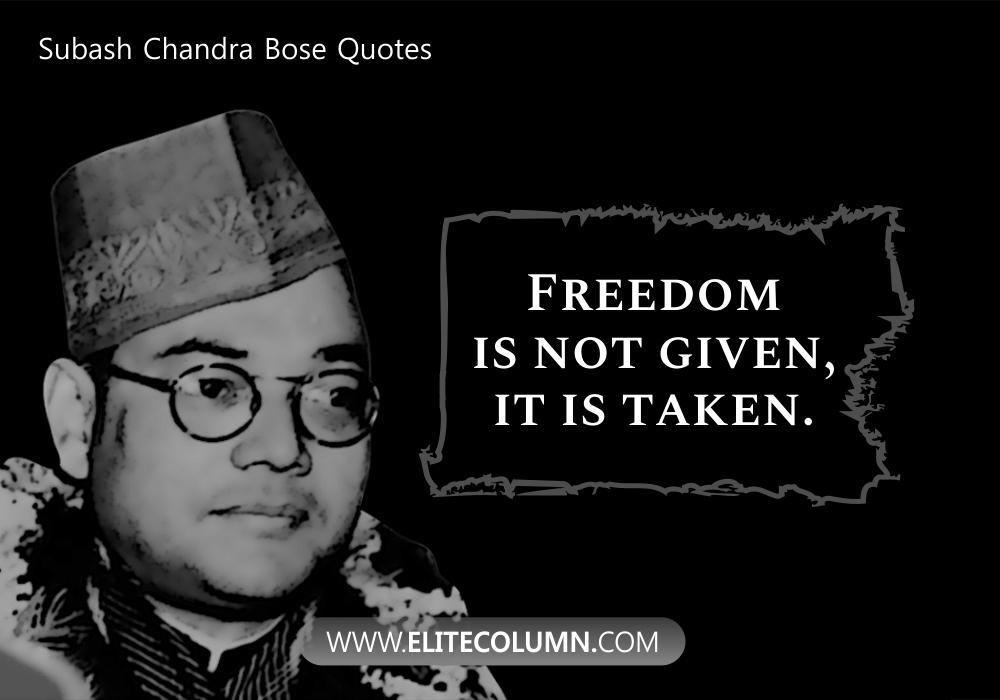 Subash Chandra Bose Quotes (10)