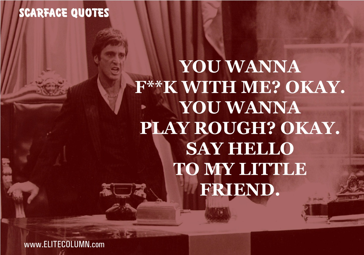 Scarface Quotes Scarface Quotes 1 | EliteColumn Scarface Quotes
