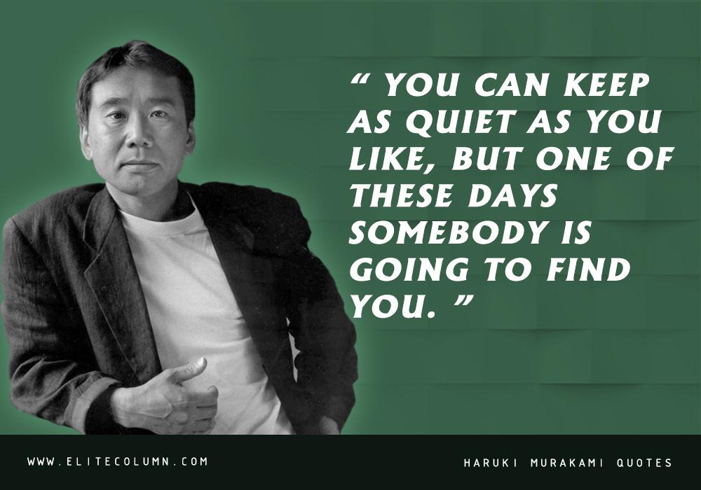 Haruki Murakami Quotes (8)