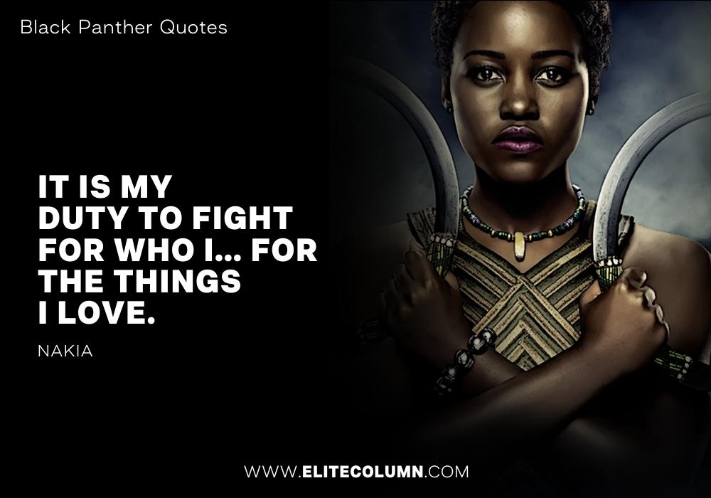 Black Panther Quotes Black Panther Quotes 10 | EliteColumn Black Panther Quotes