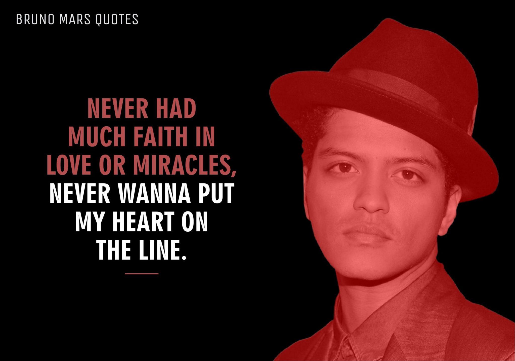Bruno Mars Quotes (10)