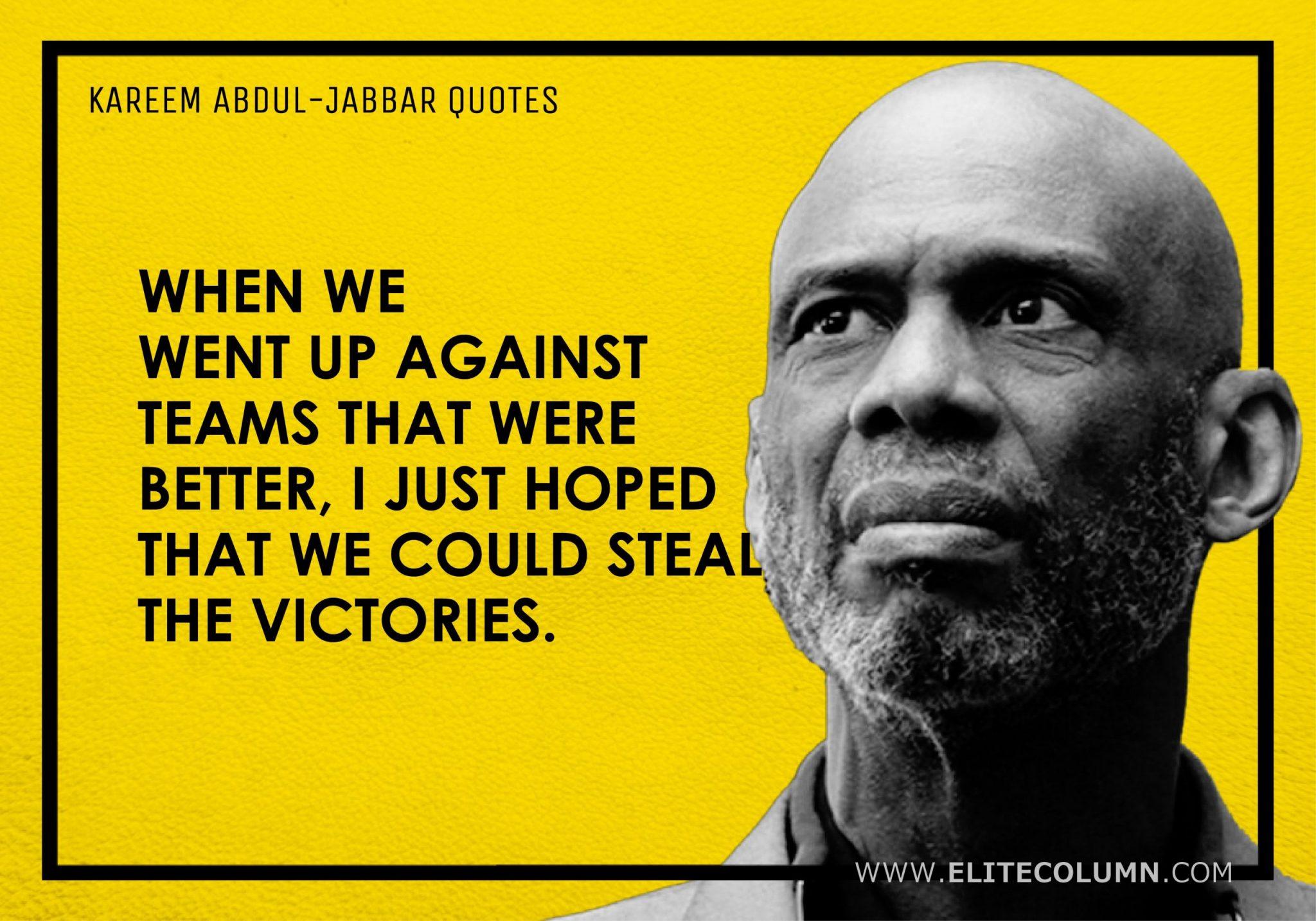 Kareem Abdul-Jabbar Quotes (10)