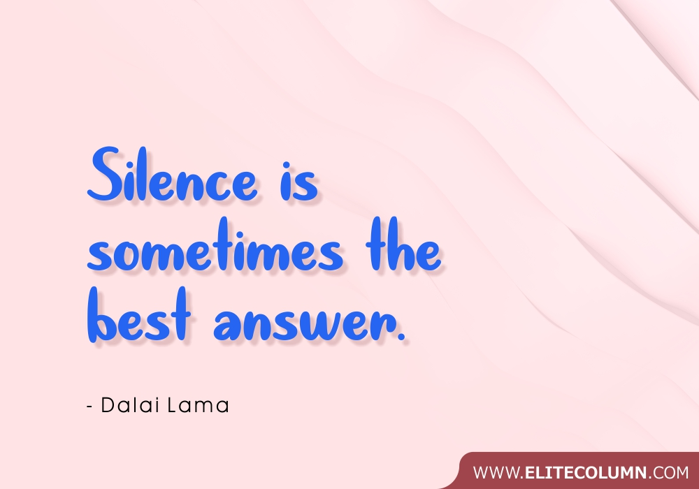 Silence Quotes (7)