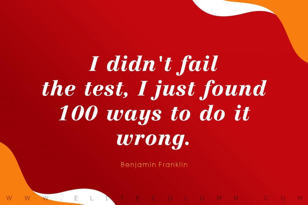 Benjamin Franklin Quotes (4)